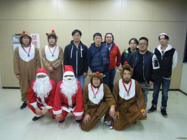 サンタクロース訪問 岩倉市商工会青年部