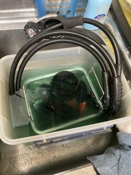 スキューバプロMk20 洗浄開始